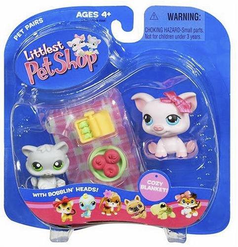 Buy Low Price Hasbro Littlest Pet Shop Pet Pairs Figures Pot Belly Pig & Kitten (B000FIH3R0)
