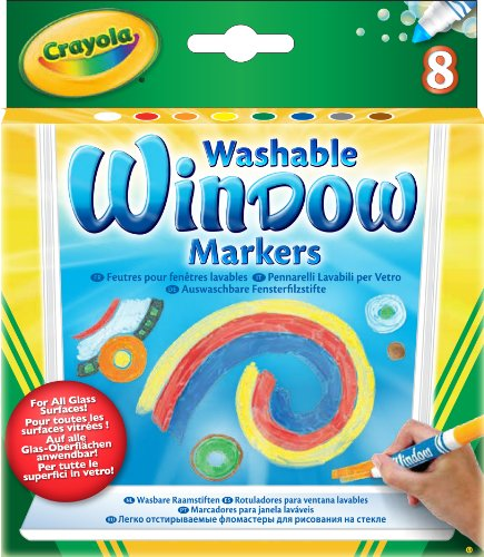 Crayola 8 Count Washable Window Markers