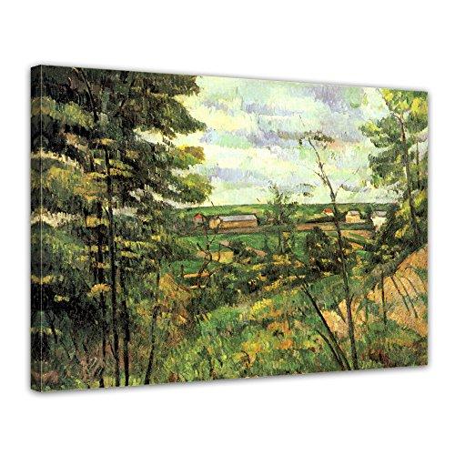 """Bilderdepot24 Leinwandbild Paul Cézanne - Alte Meister """"Das Tal der Oise"""" 70x50cm - fertig gerahmt, direkt vom Hersteller"""