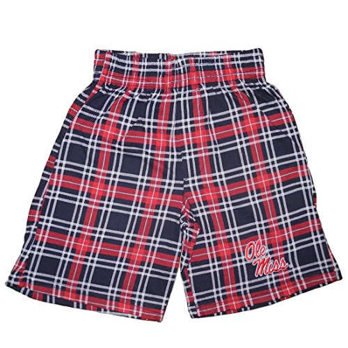 NCAA Mississippi Rebels YOUTH Plaid Sleepwear / Pajama Shorts L Multicolor