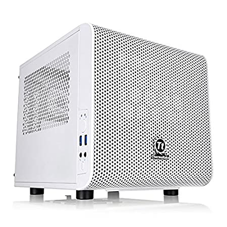 Thermaltake env.-1B8-00s6wn-01 Core V1 Mini-ITX Snow Edition Boîtier PC Blanc