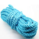 U Pick 10yds 5mm Decorative Twisted Satin Polyester Twine Cord Rope String Thread Shiny Cord Choker Thread (05:Turquoise) (Color: 05:Turquoise, Tamaño: 5mm)