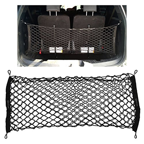 Zento Deals Black Mesh Net Cargo Trunk Storage Organizer (Golf Cargo Cover compare prices)