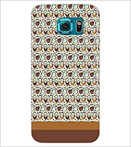 PrintDhaba Owl pattern D-1865 Back Case Cover for SAMSUNG GALAXY S6 EDGE (Multi-Coloured)
