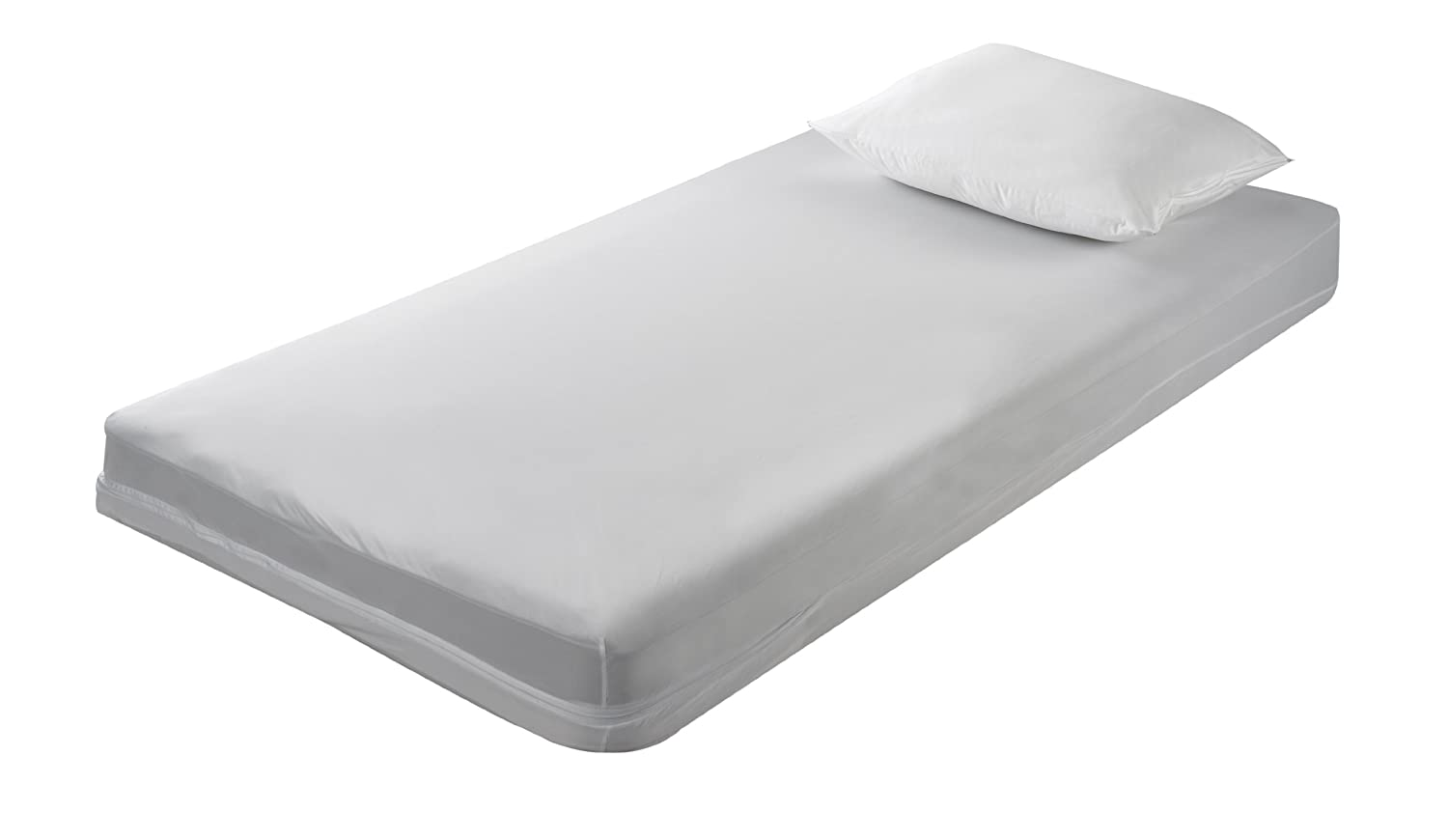 6 Gauge Vinyl Zippered Full Size Mattress Cover 9 Inch
