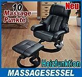 Massagesessel Vatertag Geschenk Relaxsessel Fernsehsessel Tv Sessel mit Heizfunktion inkl. Hocker
