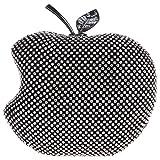 (ファウジーヤ)Fawziya®リンゴの形 クラッチバッグ 結婚式 パーティーバッグ-ブラック