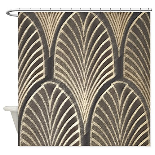 CafePress - Art Deco Fan Geometric - Decorative Fabric Shower Curtain (Art Deco Shower Curtain compare prices)