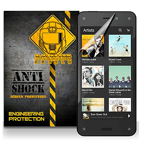 D-Flectorshield Amazon Fire Phone Anti-Shock/Military Grade/ Tpu /Premium Screen Protector / Self Healing / Oleophobic Material / Ez Install / Ultra High Definition / Scratch Proof / Bubble Free Install / Precise Laser Cuts front-552459