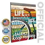 'Life Is A Beautiful Ride' Bicycle Wall Art by Marla Rae 12 x 16 Made in USA