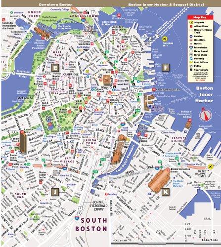 StreetSmart Boston Map by VanDam City Street Map of Boston
