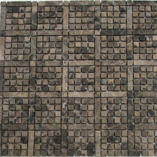 Stone Mosaic Tile Backsplash Emprado Dark Marble Mosaic Tile 12