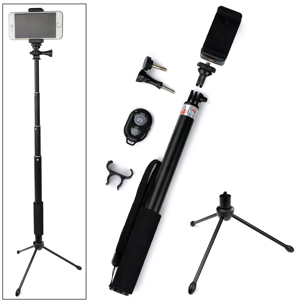 ace3c rhythm pro selfie stick monopod with mini tripod stand bluetooth remo. Black Bedroom Furniture Sets. Home Design Ideas