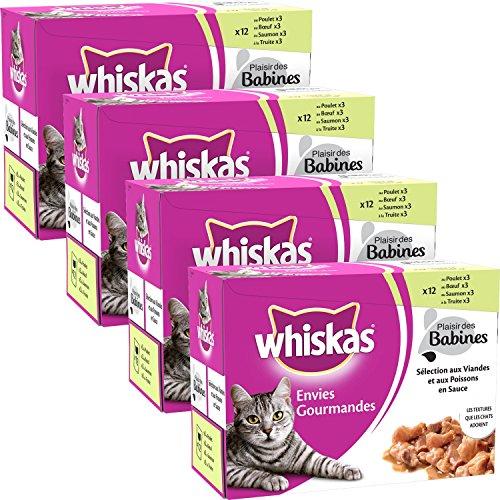 whiskas-envies-gourmandes-sachets-fraicheur-aux-viandes-et-aux-poissons-en-sauce-12x85g-lot-de-4-48-