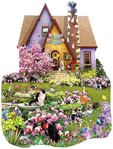 SunsOut - Lori Schory - Easter On The Lawn - Shaped Jigsaw Puzzle - 1000 Pc