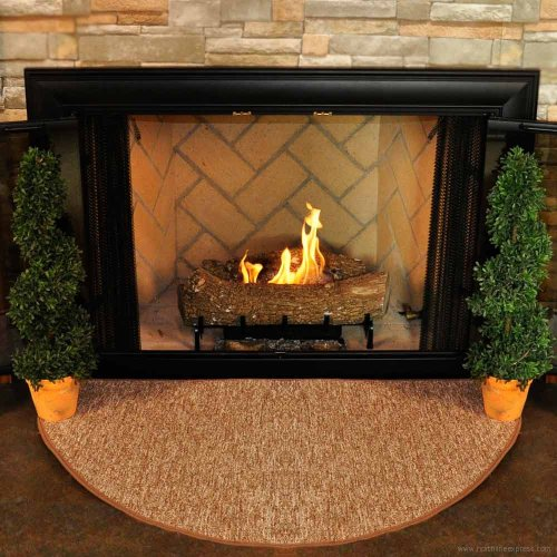 Goods Of The Woods 10809 Firewood Half Round Rug - Harvest (Fire Mat For Fireplace compare prices)