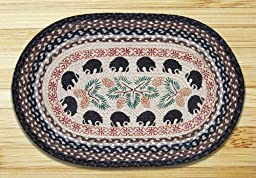 Earth Rugs 65-313BB Bears Oval Design Rug, 20 by 30\