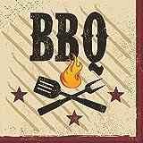Creative Converting 18 Count Beverage Napkins, BBQ Master