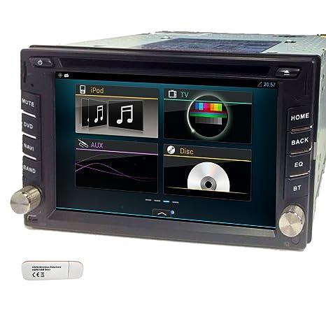 Universal Pupug Android 4.2 3G de FM / AM WiFi coches Lecteur DVD en el tablero en el tablero de 2 Din Car Radio EstšŠreo GPS Logo Navegaciš®n capacitiva surveiller RDS estšŠreo multimšŠdia VCD Subwoofe