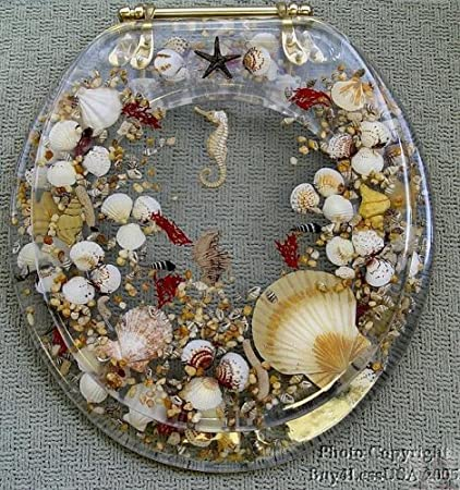 sea shell toilet seat. Clear Polly Resin Standard Size Seashell Toilet Seat 16 Beautiful Seats You Always Prefer to Decorate