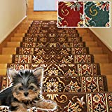 階段用マット ラリスタン(Y) ブラウン 約22cm×67cm 滑り止め ステップマット 13...