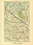 LONDON. Bermondsey, Peckham, Rotherhithe, Wapping, Surrey Docks, 1933 old map