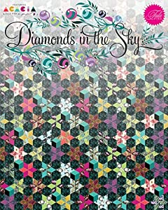 Tula Pink DIAMONDS IN THE SKY QUILT KIT Quilting Fabric Pattern