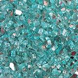 Quarter Inch Caribbean Blue Reflective Fire Glass, 10 Pound Bag