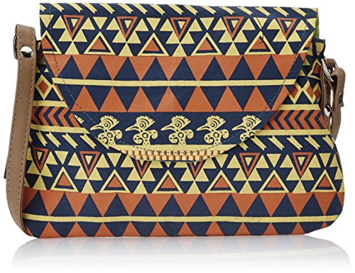 Kanvas Katha Women's Sling Bag (Navy Blue) (KKPUS002NB)