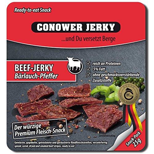 CONOWER JERKY - Manzo 12 buste da 25 g - Aglio & pepe