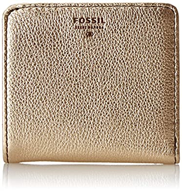 Amazon.com: Fossil Sydney Bifold Wallet, Metallic Gold, One Size