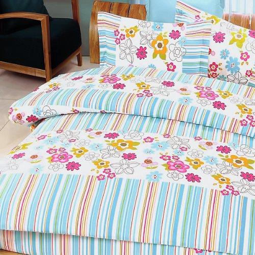 Blancho Bedding - [Blooming Flowers] Luxury 7PC Bed In A Bag Combo 300GSM (King Size)