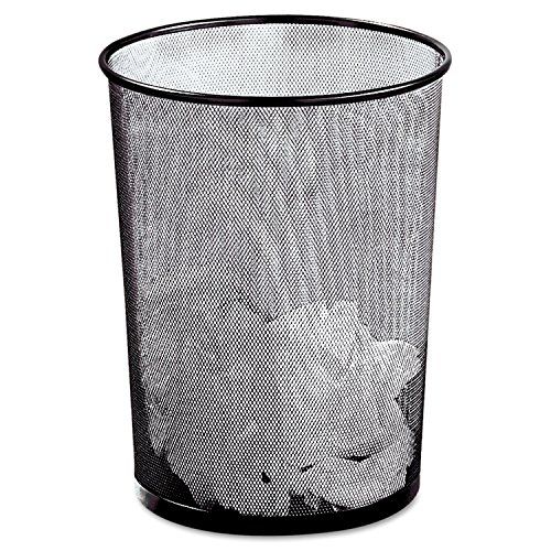 Awardpedia Rolodex Mesh Round Wastebasket 11 1 2