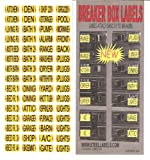 """Easy Read"" Breaker Box Decals. Tough vinyl labels for Circuit Breakers, great for Home Owners, Apartment Complexes and Electricians. Place stickers directly on the breaker switch, makes identifying the right circuit easier. Best Quality at the Best Prices"