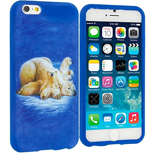 Cell Accessories For Less (Tm) Polar Bear Tpu Design Soft Case Cover For Apple Iphone 6 (4.7) + Bundle (Stylus & Micro Cleaning Cloth) - By Thetargetbuys