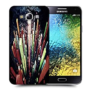 Snoogg Crystals Digital Art Printed Protective Phone Back Case Cover ForSamsung Galaxy E5