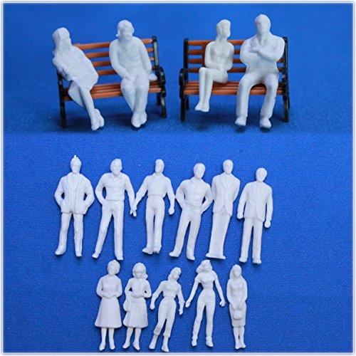 1/50人形 建築模型 Oゲージなど 50体 白模型 Oゲージ人形建築