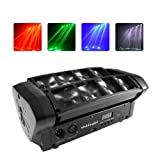 Moving Head Lights LED Mini Beam Spider Laser Scanning 8x3W with RGBW 4 Color LED Light Disco DMX512 Portable 10/14CH DJ Disco LED Stage Light For Parties,Indoor Bar,Club Wedding Ceremony (Color: 8×3w single color)