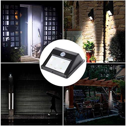 xcsource 1pcs lampe solaire lumi re 4 led num rique mural. Black Bedroom Furniture Sets. Home Design Ideas