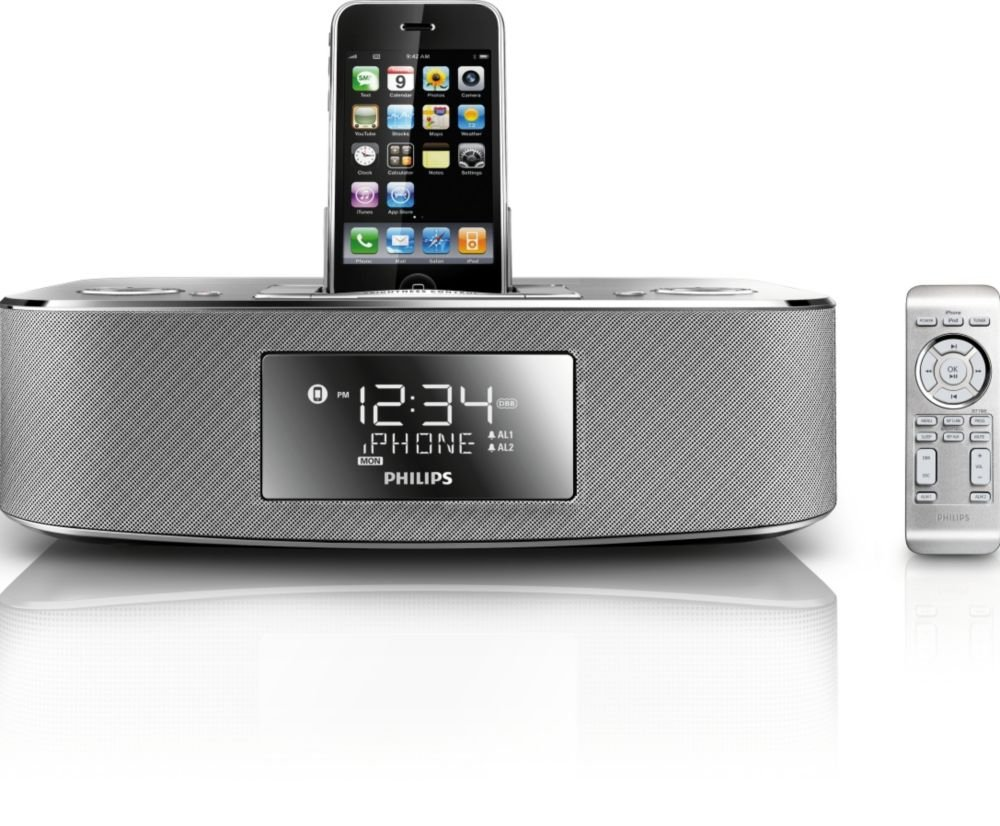 Philips DC290/37 30-Pin iPod/iPhone Alarm Clock Speaker Dock $49.95