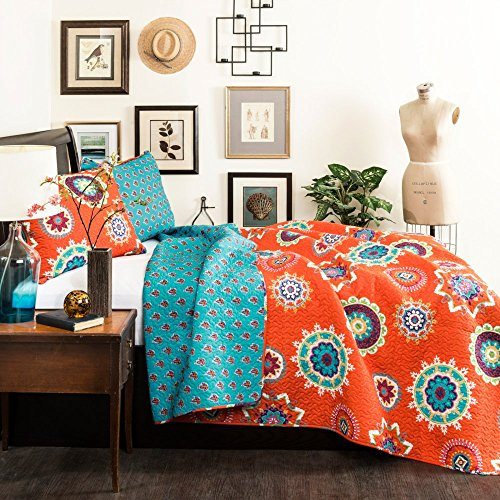 Image Gallery Orange Teal Bedding