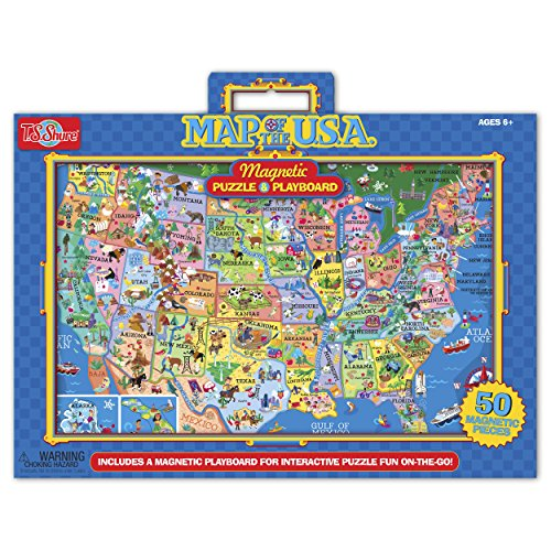 T.S. Shure Map of The U.S.A Magnetic Puzzle and Playboard - 1