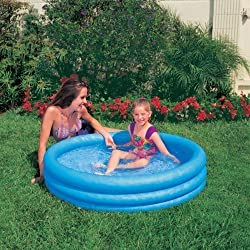 Kiddie Pool Intex Inflatable Crystal Blue Swimming Pool For Children (45X10)
