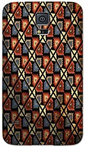 Timpax Hard Back Case Cover Printed Design : Colourful Pattern.100% Compatible with Samsung Galaxy S-5