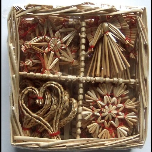 Christmas-Straw-Ornaments-Set-of-24-pieces-Wicker-Basket
