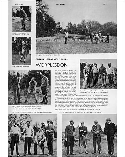 Photographic Print Of Worplesdon Golf Course