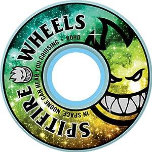 Buy Spitfire Fire In The Sky 53mm 99d White Skateboard Wheels (Set Of 4) by Spitfire