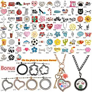 amazoncom 1000 models choices floating charms for