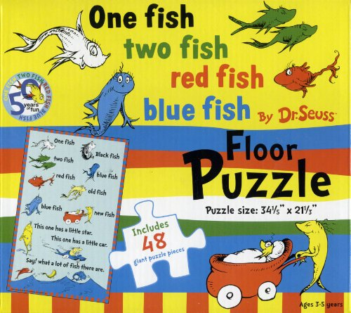 Cheap World Publications Group Floor Puzzle by Dr. Seuss – One Fish Two Fish Red Fish Blue Fish (1572156384)