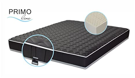 Latexmatratze Primo Line Black Label - Härtegrad F/H3 - 18 cm Latexkern - 7 Zonen - Dunlop Technologie - 180 x 200 x 20 cm